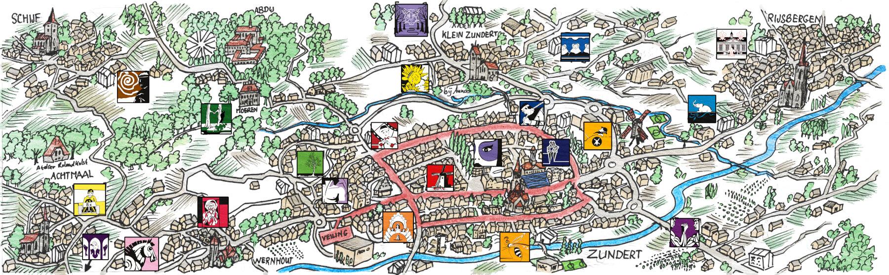Buurtschappen_kaart